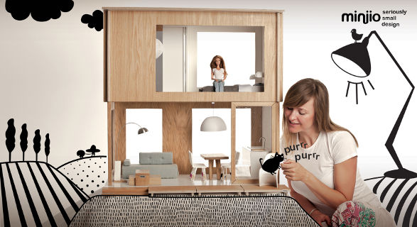 miniio dollhouse for barbie and collectible dolls