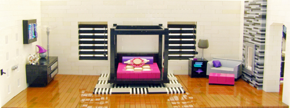 Lego Bedroom Furniture modern apartment made of lego bricks