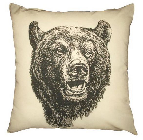 pillow bear inspired by forest