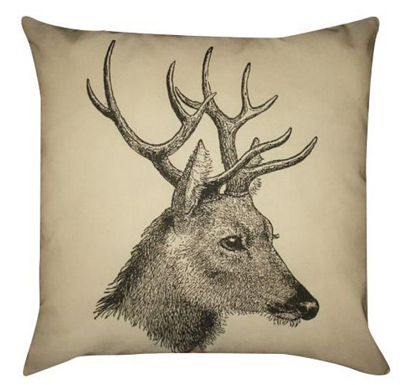 pillow deer inspired by forest