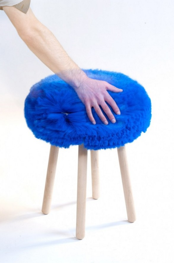 papa stool inspired by shoe brush cleaner