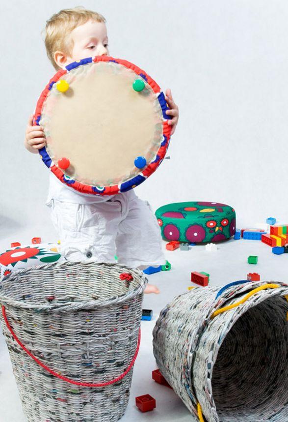 pleciak recyclable storage stool for children
