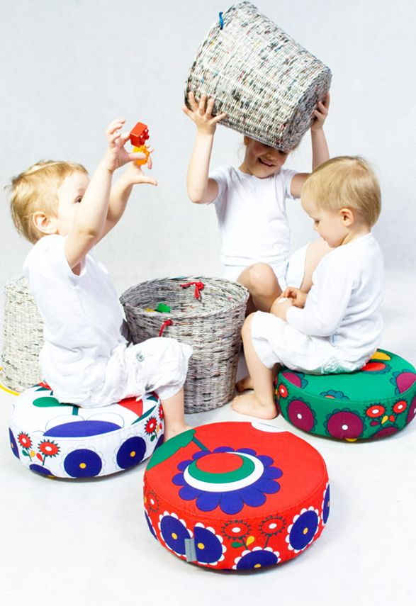 pleciak storage stool for children