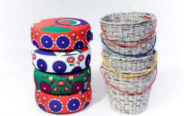 pleciak storage stool for kids recyclable