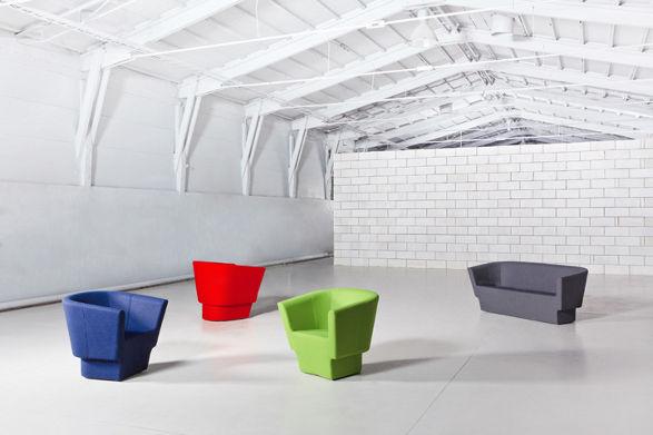 czeslaw armchairs and sofa by studio rygalik