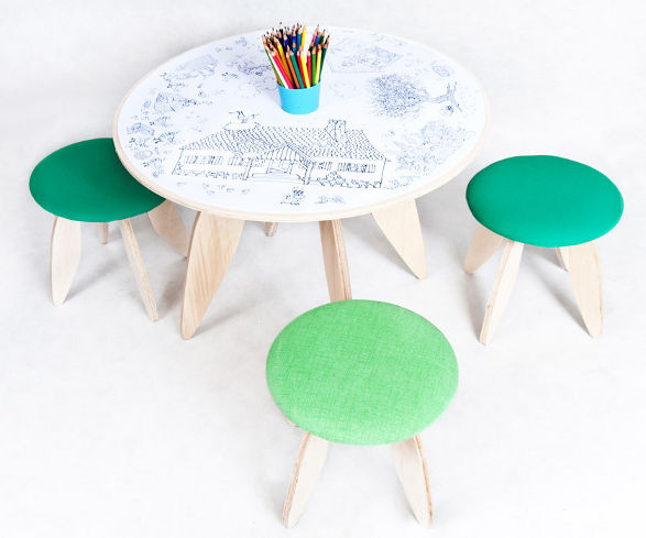 protein design recik table and stool for kids