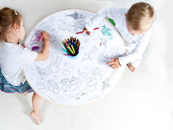 recik by protein design table and stool for little artists