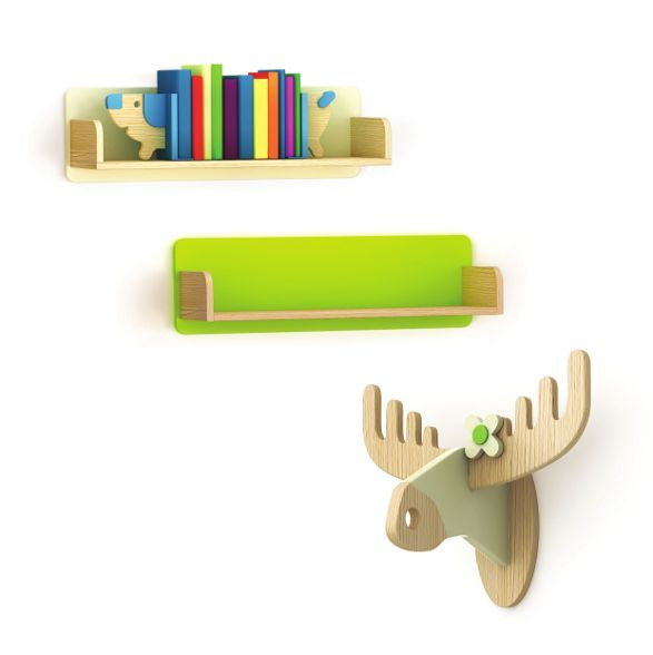 hanger bookend and shelf by timoore for kids