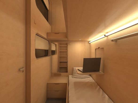 sleepbox by arch group mini hotel room for travelers