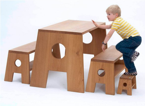 COLLECT FURNITURE STOOL FAMILY FOR KIDS AND ADULTS