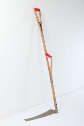 scythe garden tool by designer