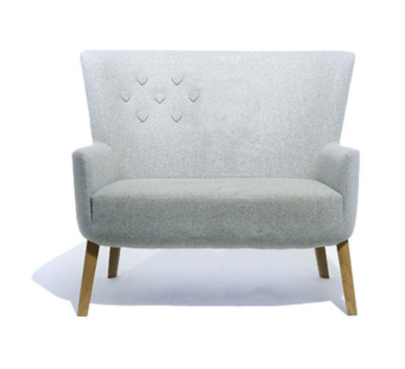 double love chair with heart buttons
