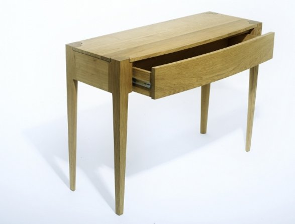 love console table with heart detail