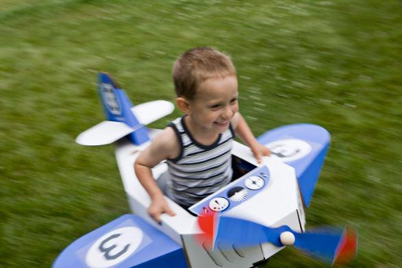 cardboard aeroplane