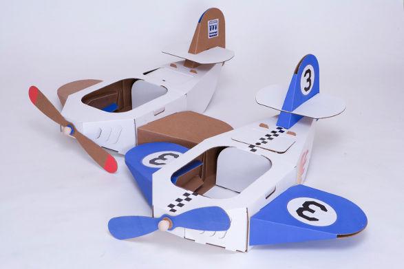 Как сделать самолет из коробок
