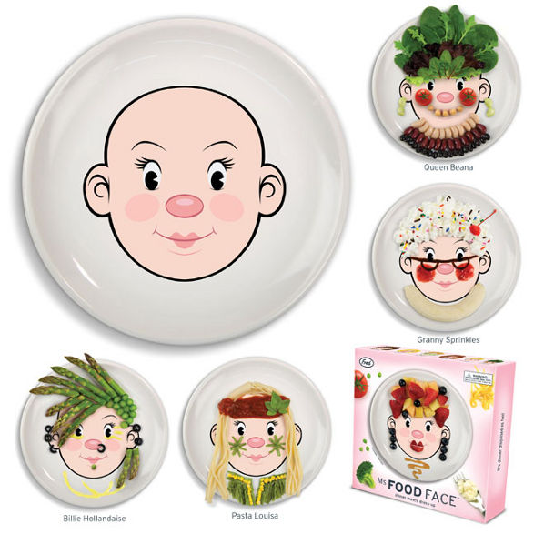 food face funny plate for kids
