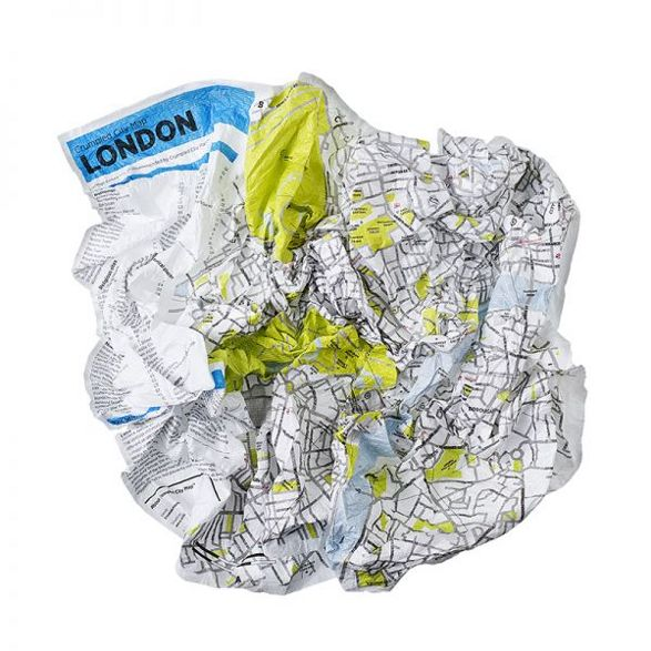 crumpled map funny gadget or gift