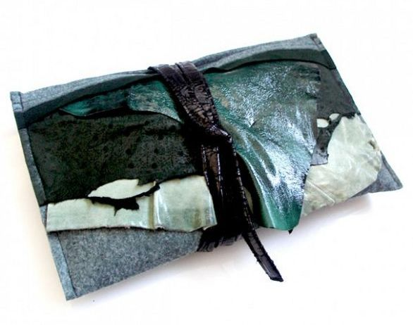 cado trashion bag in spring green colour