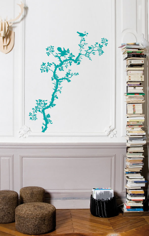 wall sticker with spring nature ornament