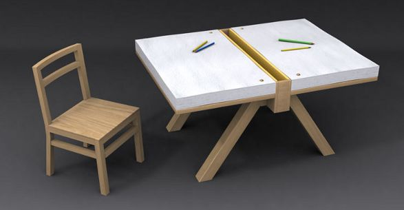 cuscino and foglio domodinamica table for drawing for kids