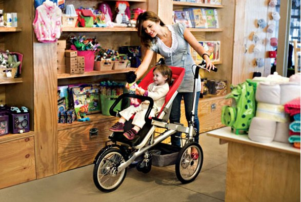 taga bicycle and stroller in one
