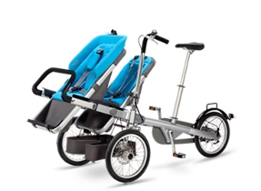 taga bike and twin stroller