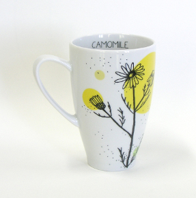 camomile tea mug from herbal collection by agnieszka dybowska