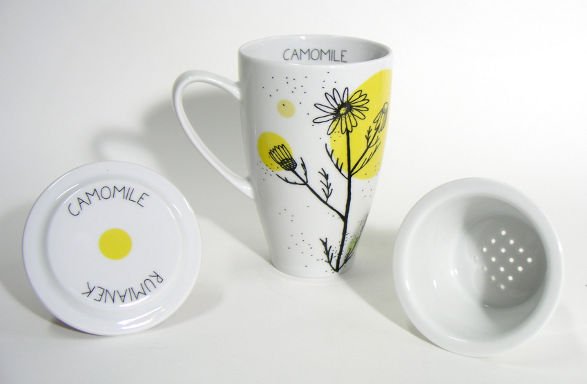 herbal collection fir tea enhtusiasts camomile mug