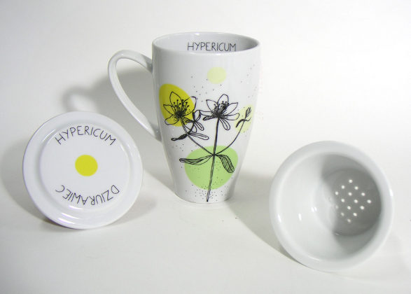 herbal collection hypericum tea mug by agnieszka dybowska