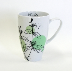 herbal collection tea mug lemon balm by agnieszka dybowska