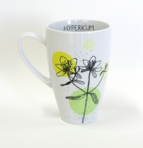 hypericum tea mug herbal collection by agnieszka dybowska