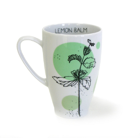 lemon balm tea mug from herbal collection kristoff fine porcelain