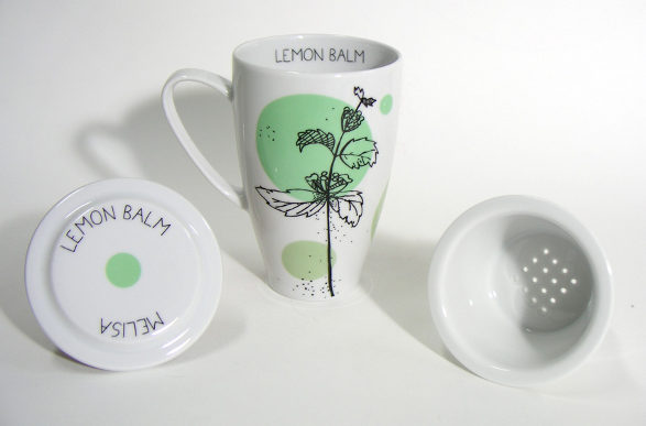 lemon balm tea mug