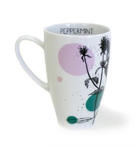 peppermint tea mug from herbal collection by agnieszka dybowska