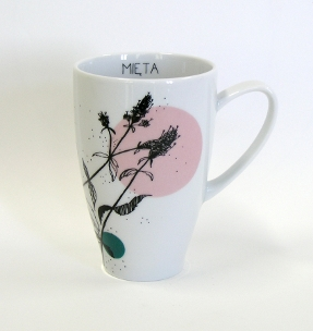 peppermint tea mug herbal collection for kristoff fine porcelain