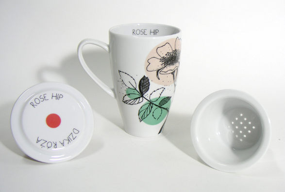 rose hip rea mug from herbal collection