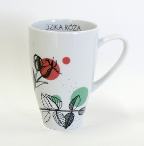 rose hip tea mug herbal collection by agnieszka dybowska