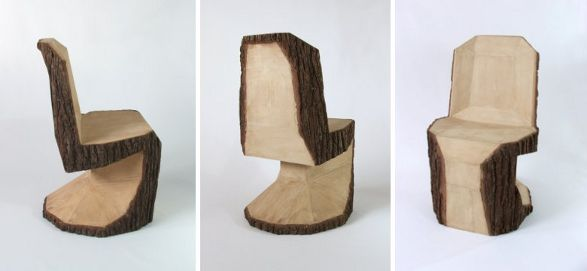 wooden panton chair by peter jakubik