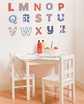 abc wall stickers for child's room