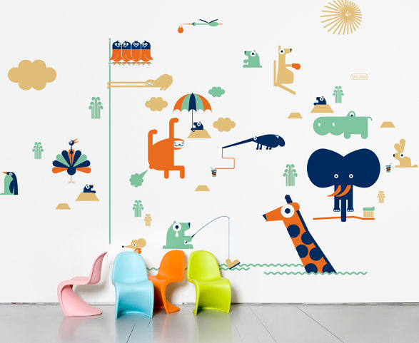 BD ZOO wall stickers for child's room