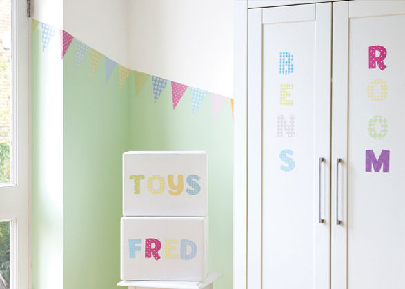 bunting wall stickers for child's room