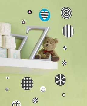 dots wall stickers for kid's room