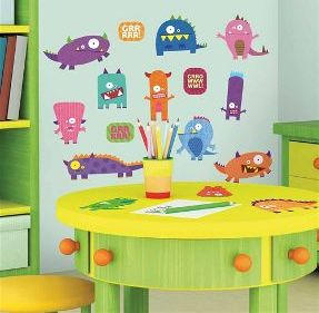 Monsters wall stickers for kid's room
