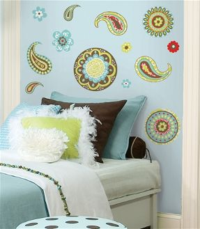 paisley wall stickers for girls room