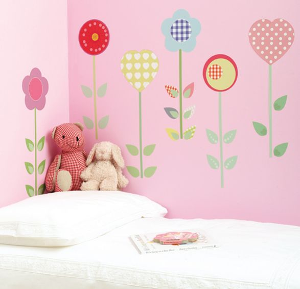 polly patch wall stickers for girls room