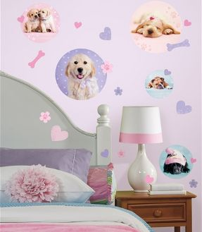 puppies spots wall stickers for kid's room