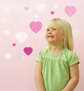 sweet hearts wall stickers for child's room