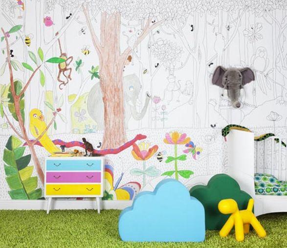 jungledudes wallpaper for kids room