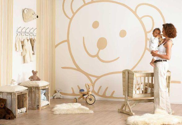 teddy wallpaper for kids room