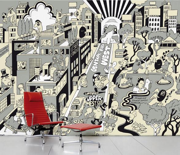 upper west side wallpaper for childrens room
